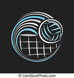 logo, wektor, siatkówka