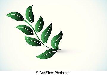 logo, wektor, zdrowie, natura, liść