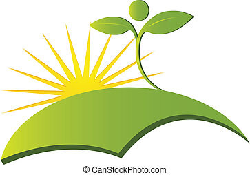 logo, wektor, zdrowie, natura