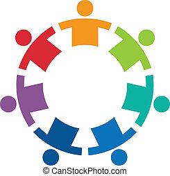 logo, wizerunek, koło, 7, drużyna
