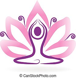 logo, yoga, lotos