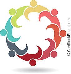 logo, zaprzęg spotkanie, handlowy, 8