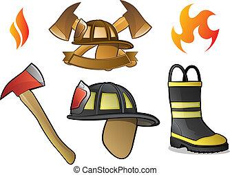 logos, firefighter