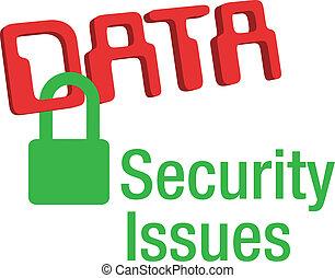 lok, bezpieczeństwo, dane, spokojny, wyjścia