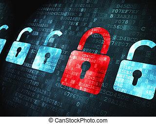 loki, bezpieczeństwo, concept:, tło, cyfrowy