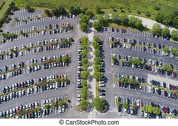 los, biuro, parking, antena