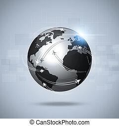 lotnictwo, globalny, tło