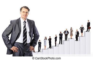 ludzie, diagram., handlowy zaprzęg