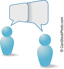ludzie, komunikacja, część, symbolika, mowa, bańki, rozmowa