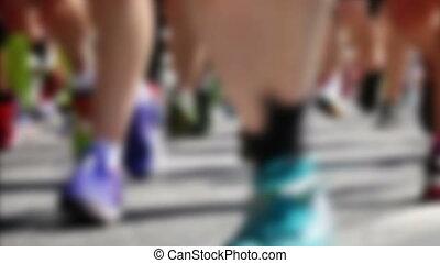 ludzie, maraton, sztokholm, wyścigi, szwecja, sztokholm
