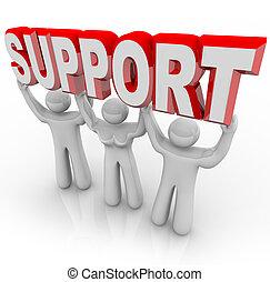 ludzie, poparcie, czasy, ciężar, twój, podnoszenie, trudny