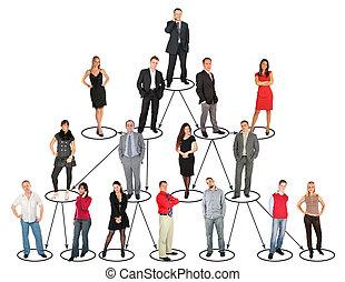 ludzie, poziomy, różny, collage, wpływy, rozmaity, pozycje