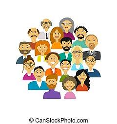 ludzie, projektować, grupa, twój, tło