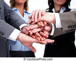 ludzie, siła robocza, handlowy, team.
