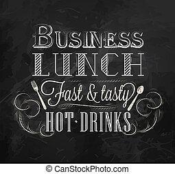 lunch, kreda, handlowy