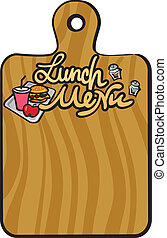lunch, menu