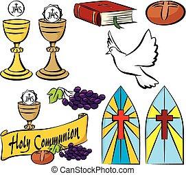 mój, komunia, święty, pierwszy