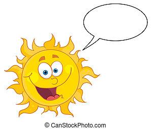 mówiąc, szczęśliwy, słońce