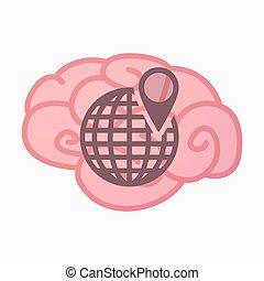 mózg, kula, odizolowany, świat