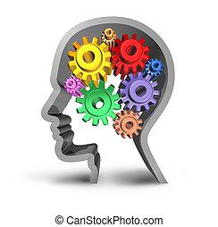 mózg, ludzki, działalność