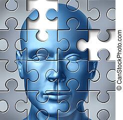 mózg, medyczny, ludzki, praca badawcza
