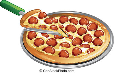 mąka, pizza