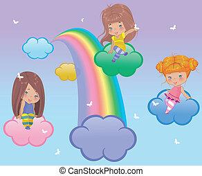 małe dziewczyny, trzy
