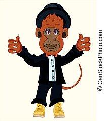 małpa, garnitur