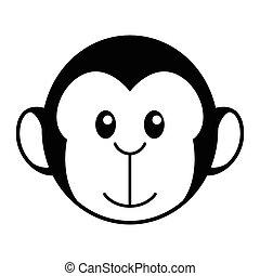 małpa, rysunek