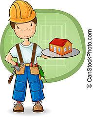 mały dom, budowniczy, dzierżawa