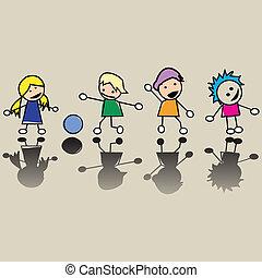 mały, dzieci, szczęśliwy