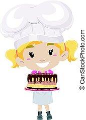 mały kuchmistrz, wyroby cukiernicze, dzierżawa, ciastko, dziewczyna
