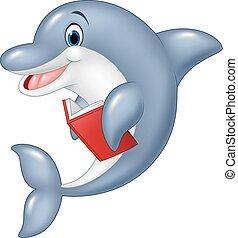 mały, reputacja, delfin