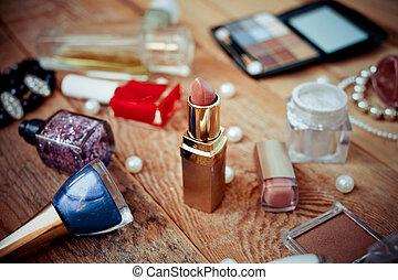 makijaż, wyroby, różny, drewniany