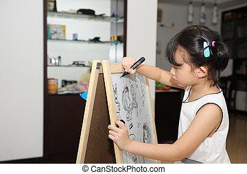 malarstwo, asian, koźlę