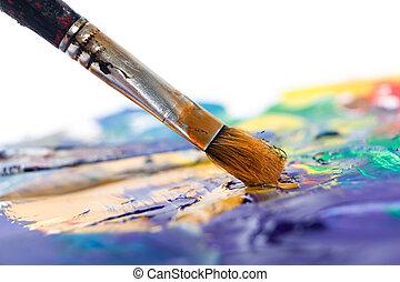 malarstwo, coś, pędzel