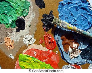 malarze, paleta