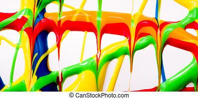 malować, chorągiew, mokry