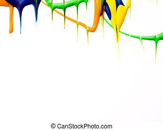 malować, kapanie, tło, mokry