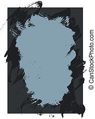 malować, szorstki, tło, struktura, atrament