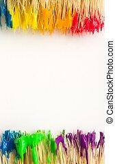 malować, sztuka, tło, tęcza