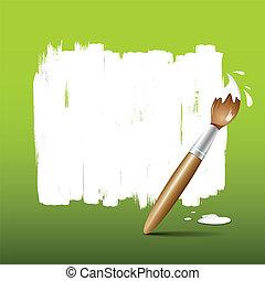 malować, zielony, szczotka, tło