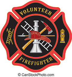 maltańczyk, firefighter, krzyż, ochotnik