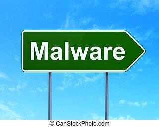 malware, znak, bezpieczeństwo, concept:, tło, droga