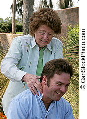 mamusia, masaż