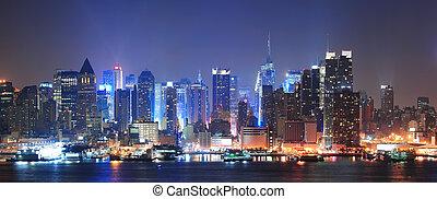manhattan, nowy, miasto, york