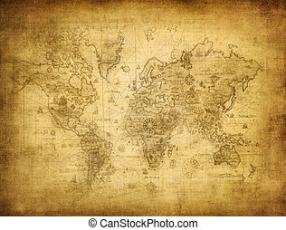 mapa, świat, starożytny