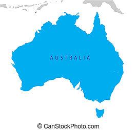 mapa, australia, polityczny