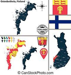 mapa, finlandia, ostrobothnia