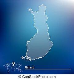 mapa, finlandia